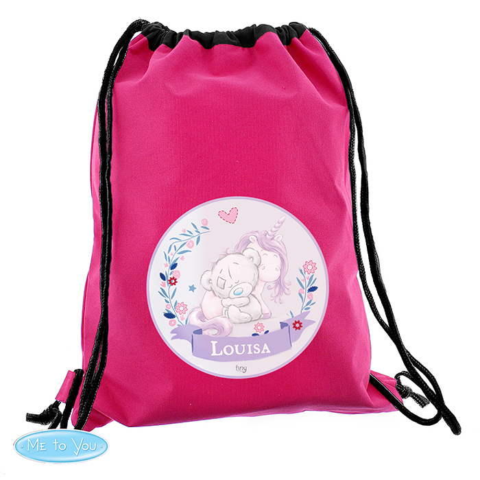 Customised kids gym bag back to school pe crown design Princess your name